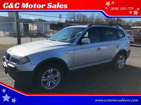 2004 BMW X3 for sale at C&C Motor Sales LLC in Hudson NC