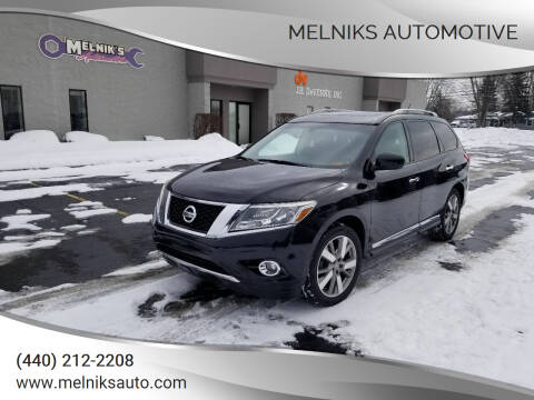 2013 Nissan Pathfinder for sale at Melniks Automotive in Berea OH