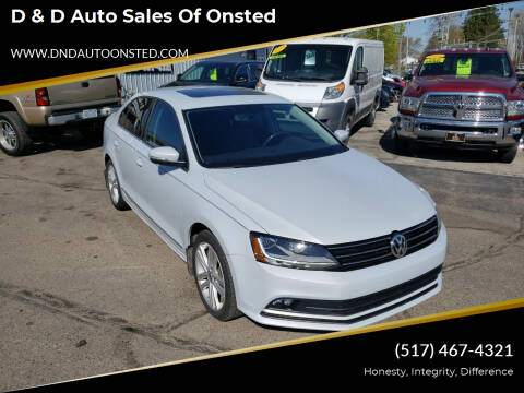 2017 Volkswagen Jetta for sale at D & D Auto Sales Of Onsted in Onsted   Brooklyn MI