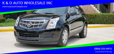 2012 Cadillac SRX for sale at K & O AUTO WHOLESALE INC in Jacksonville FL