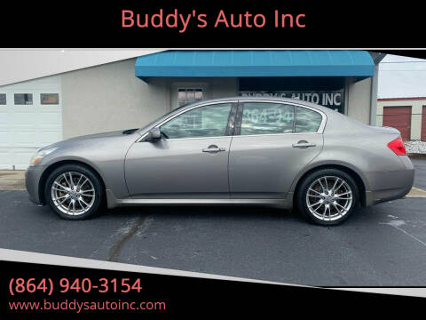 2008 Infiniti G35 for sale at Buddy's Auto Inc in Pendleton, SC
