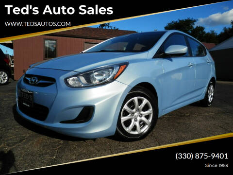 2014 Hyundai Accent for sale at Ted's Auto Sales in Louisville OH