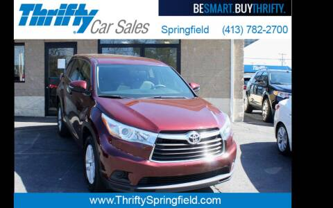 2016 Toyota Highlander for sale at Thrifty Car Sales Springfield in Springfield MA