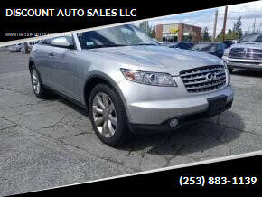 2003 Infiniti FX45 for sale at DISCOUNT AUTO SALES LLC in Spanaway WA
