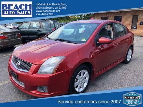 2011 Nissan Sentra for sale at Beach Auto Sales in Virginia Beach VA