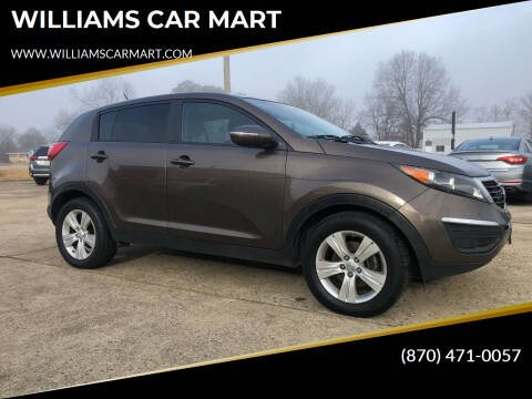 2012 Kia Sportage for sale at WILLIAMS CAR MART in Gassville AR