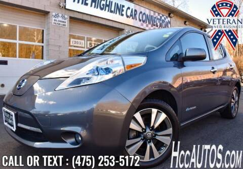 2017 Nissan LEAF for sale at The Highline Car Connection in Waterbury CT