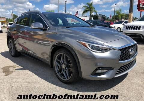 2018 Infiniti QX30 for sale at AUTO CLUB OF MIAMI, INC in Miami FL