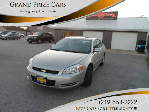 2008 Chevrolet Impala for sale at Grand Prize Cars in Cedar Lake IN