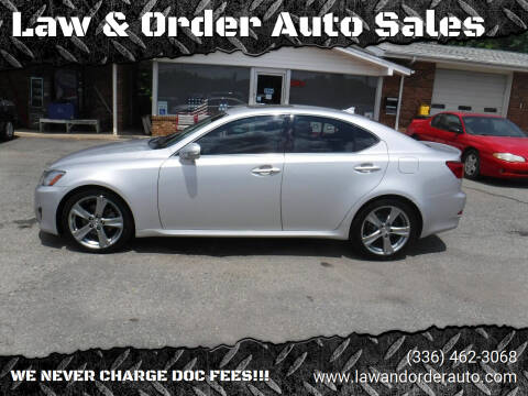 2012 Lexus IS 250 for sale at Law & Order Auto Sales in Pilot Mountain NC