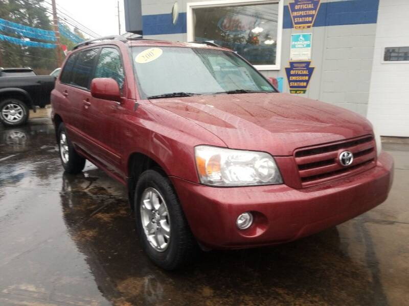 2007 Toyota Highlander for sale at Fleetwing Auto Sales in Erie PA