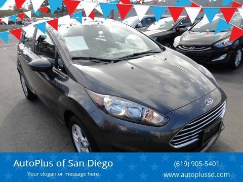 2018 Ford Fiesta for sale at AutoPlus of San Diego in Spring Valley CA