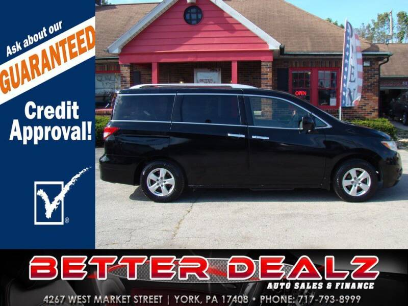 2013 Nissan Quest for sale at Better Dealz Auto Sales & Finance in York PA
