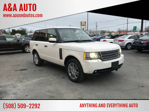2010 Land Rover Range Rover for sale at A&A AUTO in Fairhaven MA