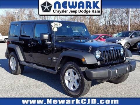 2018 Jeep Wrangler JK Unlimited for sale at NEWARK CHRYSLER JEEP DODGE in Newark DE