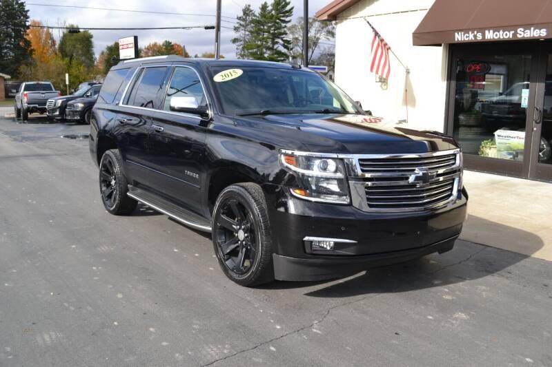 2015 Chevrolet Tahoe for sale at Nick's Motor Sales LLC in Kalkaska MI