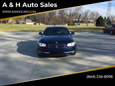 2011 BMW 3 Series for sale at A & H Auto Sales in Greenville SC