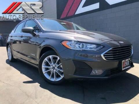 2019 Ford Fusion Hybrid for sale at Auto Republic Fullerton in Fullerton CA
