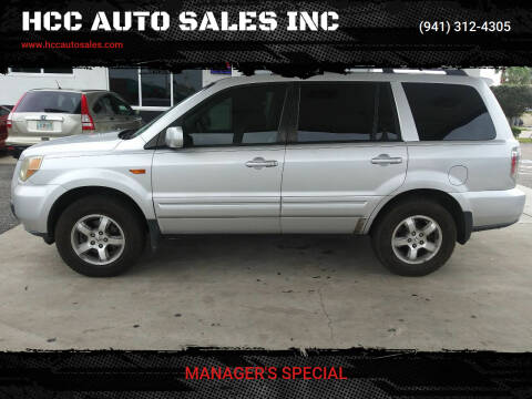 2007 Honda Pilot for sale at HCC AUTO SALES INC in Sarasota FL