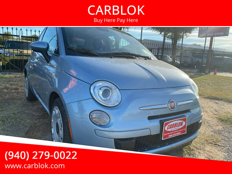 2015 FIAT 500 for sale at CARBLOK in Lewisville TX