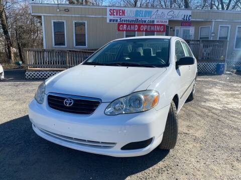 2005 Toyota Corolla for sale at Seven and Below Auto Sales, LLC in Rockville MD