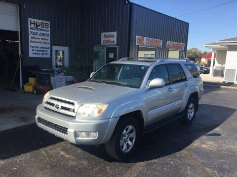 2004 Toyota 4Runner for sale at Hoss Sage City Motors, Inc in Monticello IL