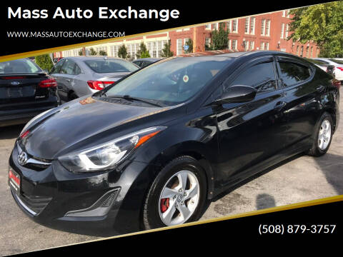 2014 Hyundai Elantra for sale at Mass Auto Exchange in Framingham MA