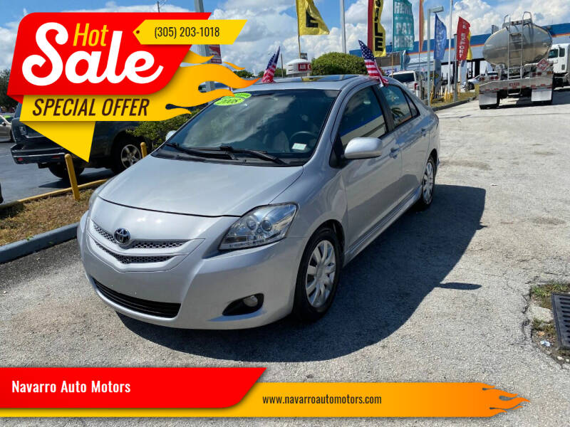 2007 Toyota Yaris for sale at Navarro Auto Motors in Hialeah FL
