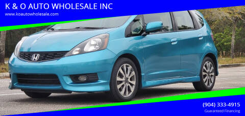 2013 Honda Fit for sale at K & O AUTO WHOLESALE INC in Jacksonville FL