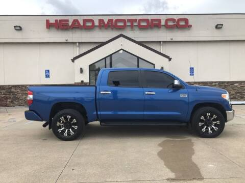 2017 Toyota Tundra for sale at Head Motor Company - Head Indian Motorcycle in Columbia MO