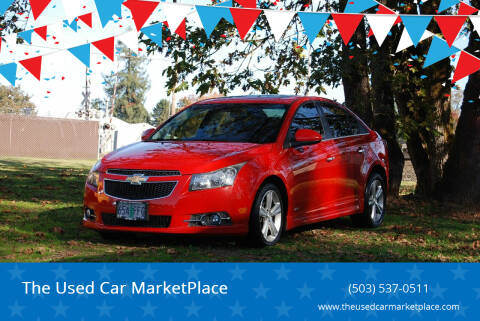 2012 Chevrolet Cruze for sale at The Used Car MarketPlace in Newberg OR