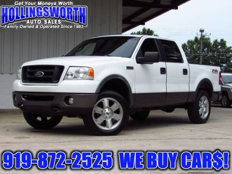 2006 Ford F-150 for sale at Hollingsworth Auto Sales in Raleigh NC