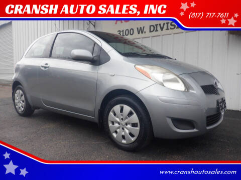 2011 Toyota Yaris for sale at CRANSH AUTO SALES, INC in Arlington TX