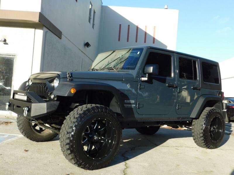 2017 Jeep Wrangler Unlimited for sale at Conti Auto Sales Inc in Burlingame CA