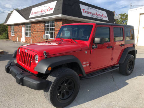 2012 Jeep Wrangler Unlimited for sale at tazewellauto.com in Tazewell TN