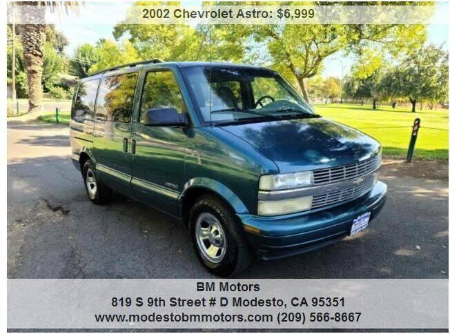 2002 Chevrolet Astro for sale at BM Motors in Modesto CA