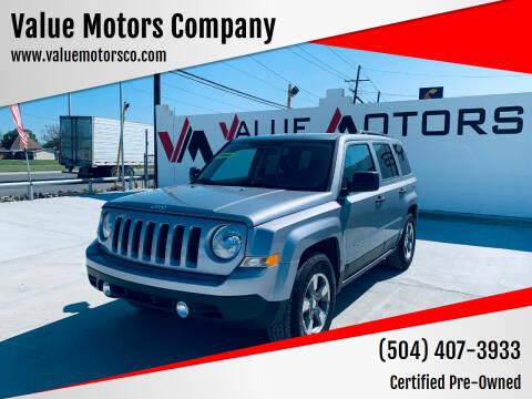 2015 Jeep Patriot for sale at Value Motors Company in Marrero LA