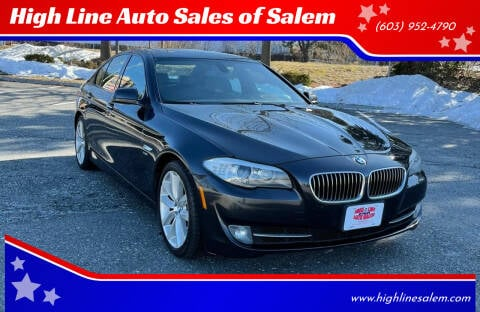 2012 BMW 5 Series for sale at High Line Auto Sales of Salem in Salem NH