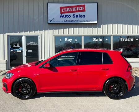 2018 Volkswagen Golf GTI for sale at Certified Auto Sales in Des Moines IA