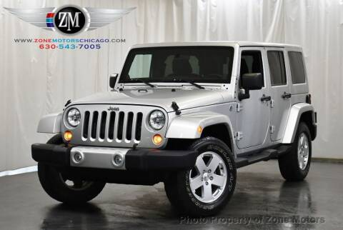 2012 Jeep Wrangler Unlimited for sale at ZONE MOTORS in Addison IL