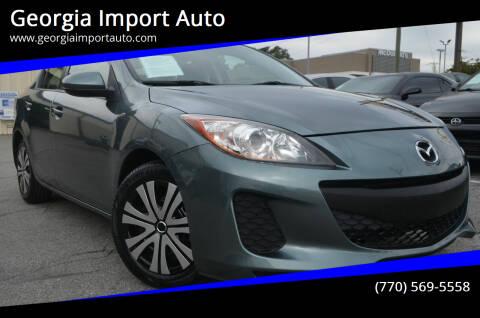 2012 Mazda MAZDA3 for sale at Georgia Import Auto in Alpharetta GA