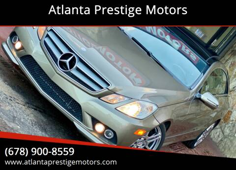 2010 Mercedes-Benz E-Class for sale at Atlanta Prestige Motors in Decatur GA