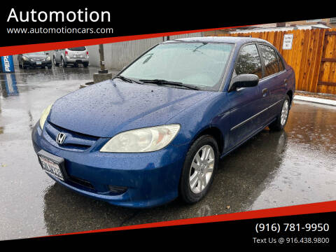 2005 Honda Civic for sale at Automotion in Roseville CA