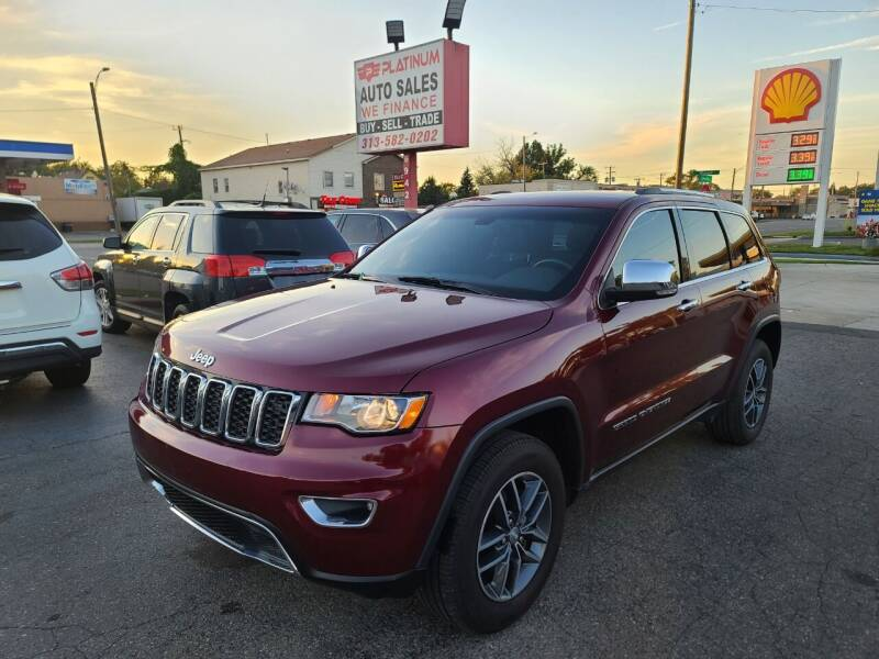 2018 Jeep Grand Cherokee for sale at PLATINUM AUTO SALES in Dearborn MI
