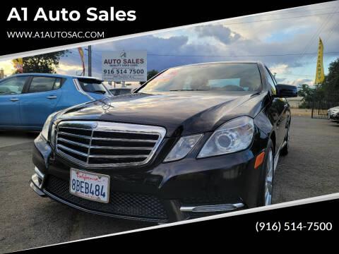 2012 Mercedes-Benz E-Class for sale at A1 Auto Sales in Sacramento CA