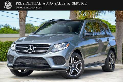 2018 Mercedes-Benz GLE for sale at Presidential Auto  Sales & Service in Delray Beach FL