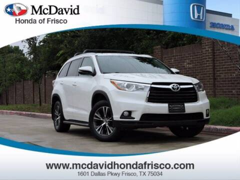 2016 Toyota Highlander for sale at DAVID McDAVID HONDA OF IRVING in Irving TX
