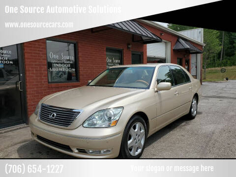 2005 Lexus LS 430 for sale at One Source Automotive Solutions in Braselton GA