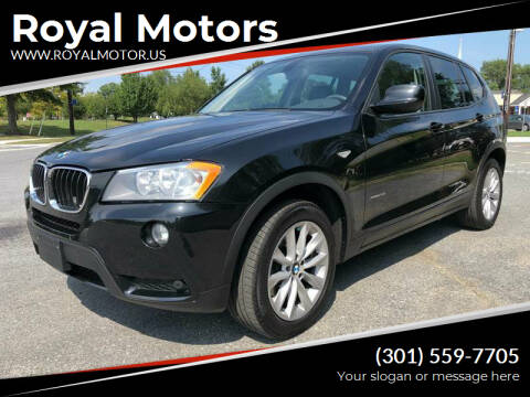 2013 BMW X3 for sale at Royal Motors in Hyattsville MD