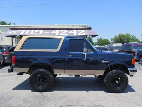 1989 Ford Bronco for sale at United Auto Sales in Oklahoma City OK